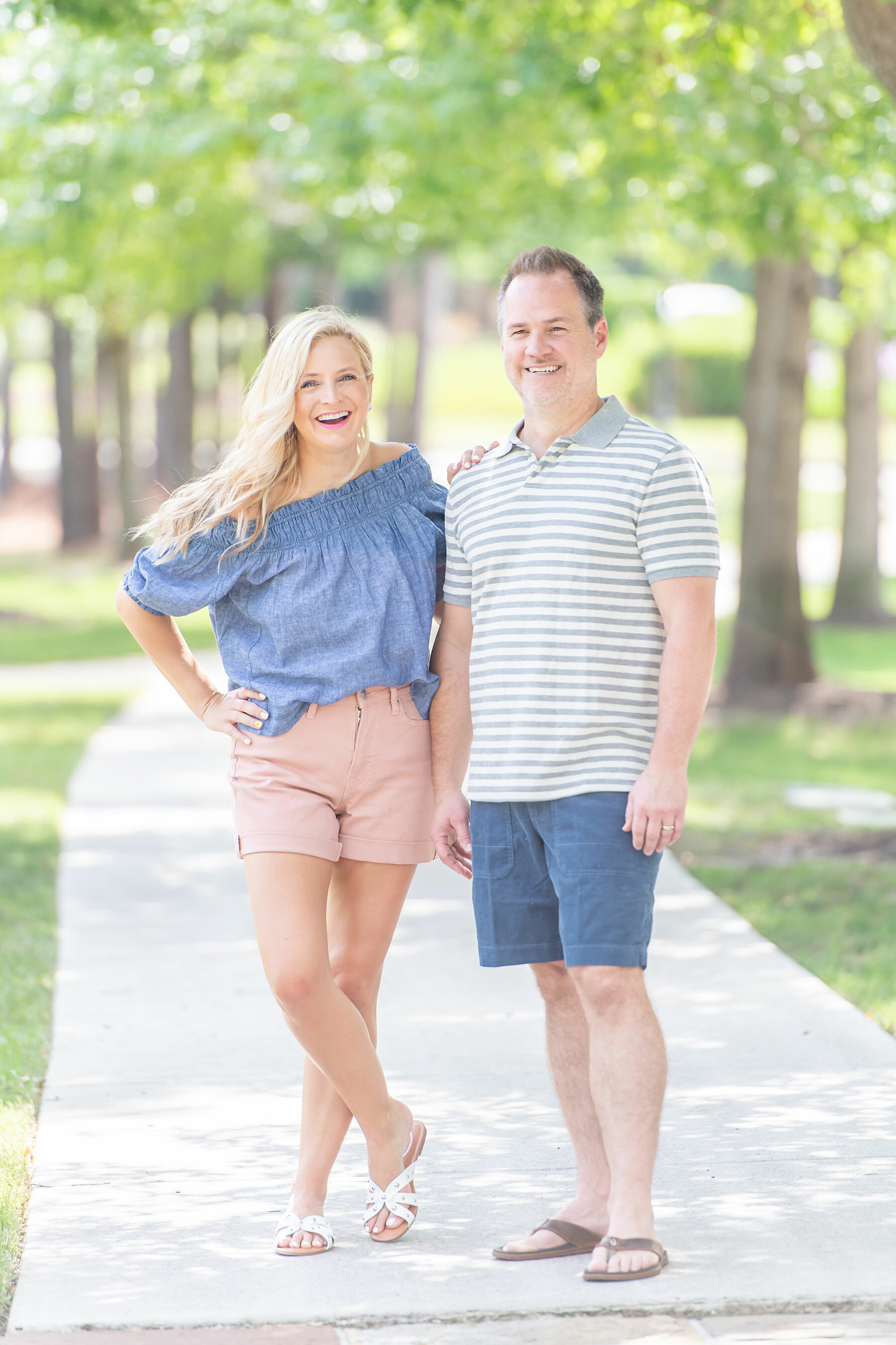 denim top pink shorts