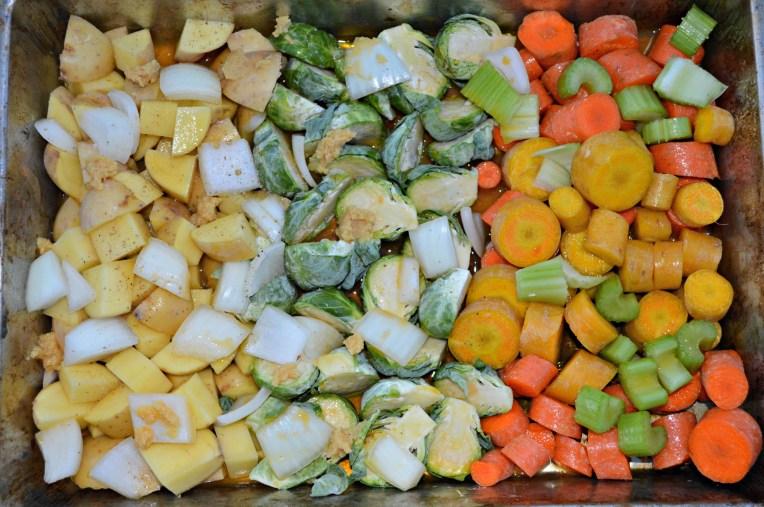 pre roasted veggies