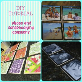 DIY coasters photo tutorial