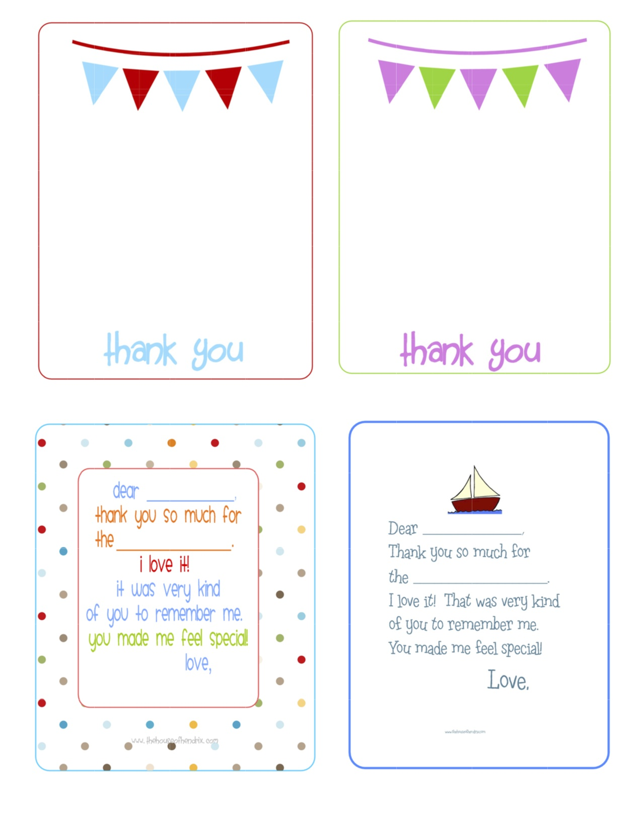 Fillin Printable Thank You Notes For Kids Crafty 2 The Corediy