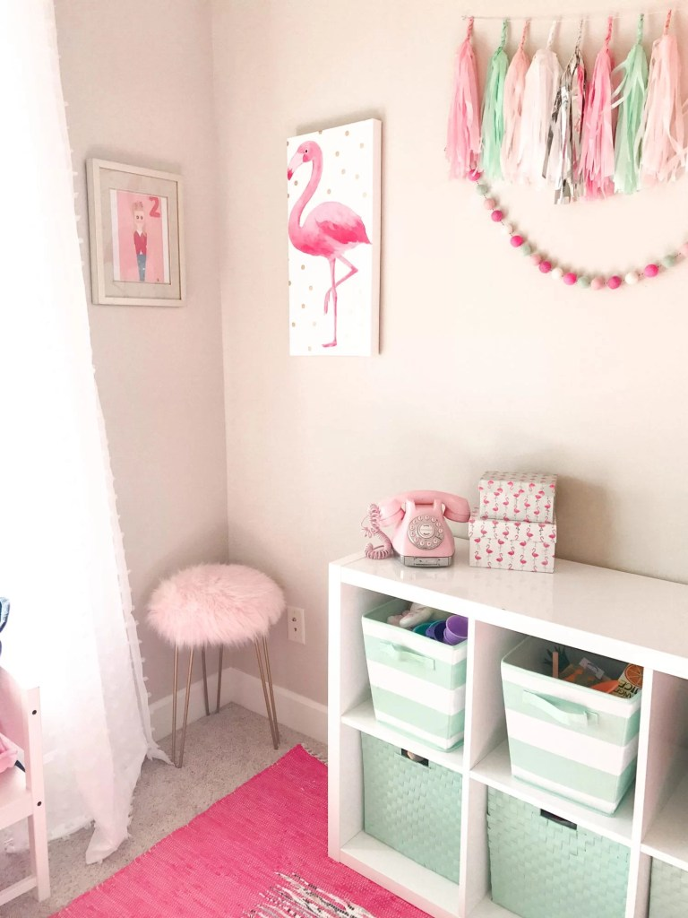 Pink And Mint Girls Playroom Tour The House Of Hood Blog