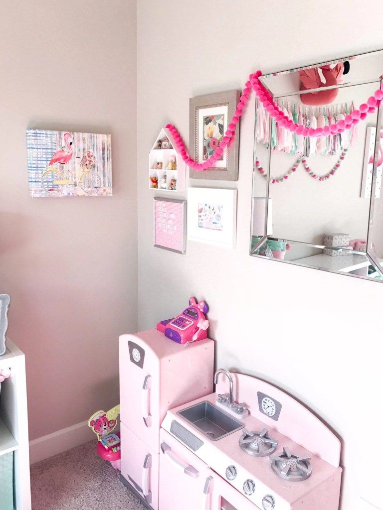 Pink and Mint Girls Playroom Tour
