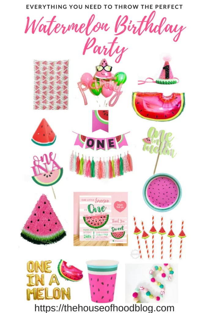Wallpaper For Little Girl Room Madison Is One In A Melon A Watermelon Birthday Party