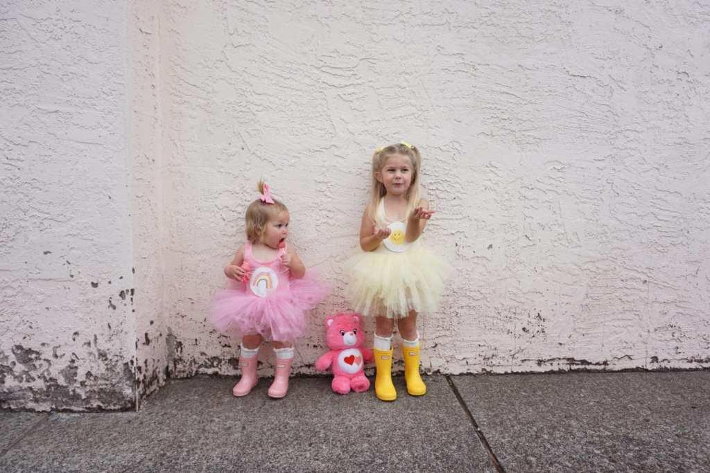 Plum NYC Tutus, DIY Halloween Costumes, toddler hunter boots, toddler style, Halloween, toddler fashion, toddler girl, care bears