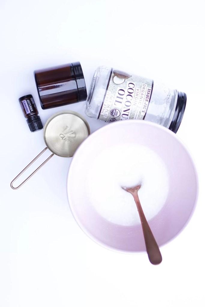 DIY Sugar Scrub, Essential Oils, Lavender Oil, Christmas Gifts, DIY Gifts, DIY Beauty Products, dry winter skin