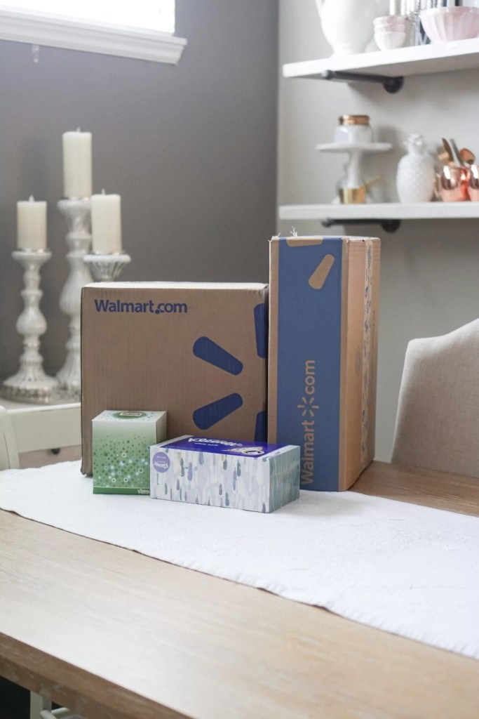 Cold and Flu Season, Kleenex, Walmart two day shipping, Walmart, cold essentials, stock up, toddler sickness