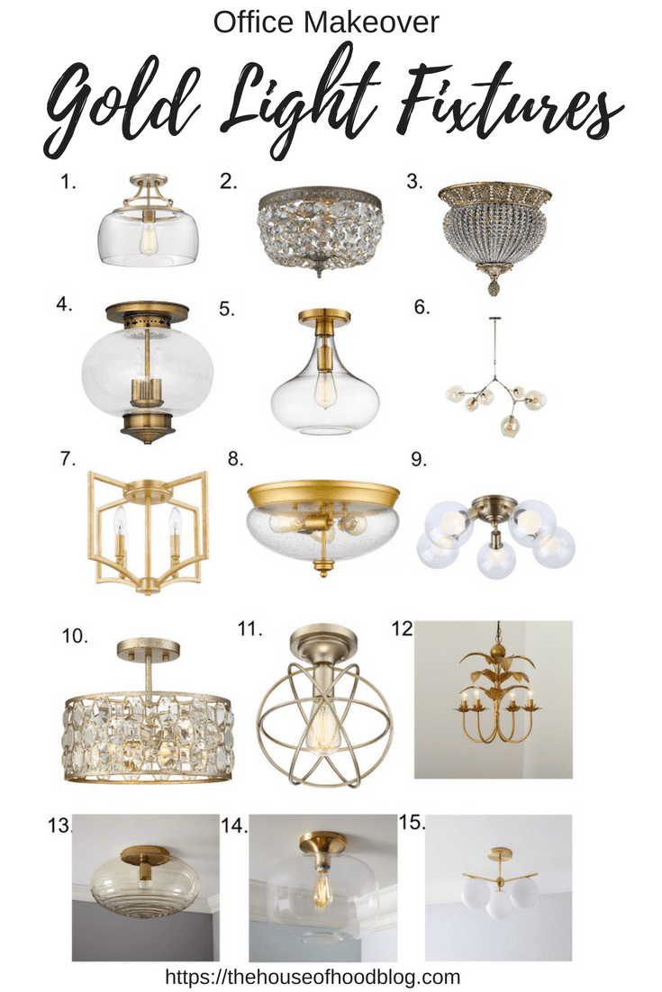 Office Make Over Gold Light Fixtures The House Of Hood Blog