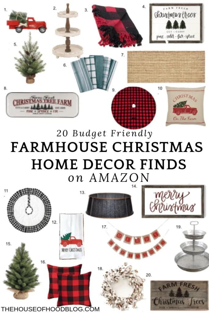 20 farmhouse christmas home decor finds on amazon - Amazon Christmas Home Decor