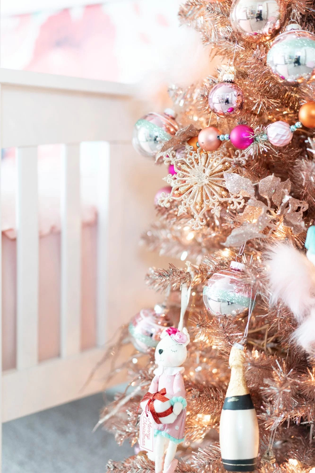 How To Style A Girly Rose Gold Christmas Tree