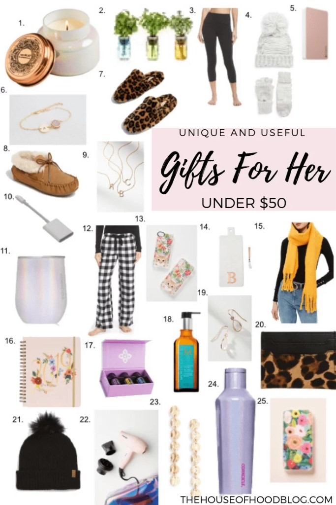 Unique and Useful Christmas Gifts for Her Under $50 - 25 Unique And Useful Christmas Gifts For Her Under $50 - The House