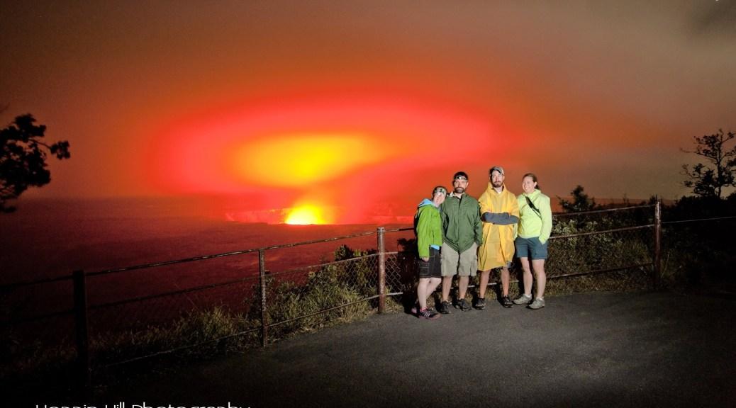 Volcano Hawaii lava glow