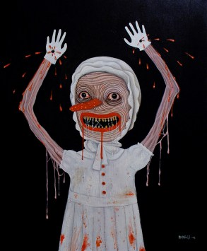 """Stigmata""by Mia Makila. 2009 [acrylic on canvas]"