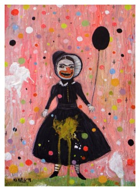 """That Girl"" by Mia Makila, 2008 [acrylic on cardboard]"