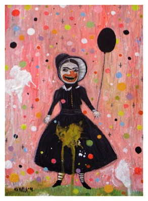 """That Girl"" by Mia Makila, 2008 [acrylic on cardboard]"