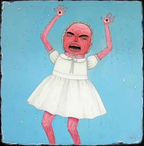 Sperm Wounds (acrylic on canvas)