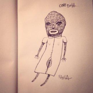 """Core Doll"" by Mia Makila, sketch, 2016"