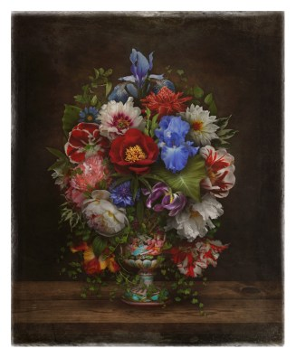 """""""Still Life With Flowers and Love"""" by Mia Makila, 2016 [digital collage]"""
