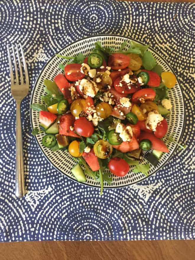 Watermelon and Serrano Salad