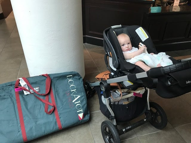 Essential Tips for Traveling with an Infant featured by top MI lifestyle blogger, The House of Navy