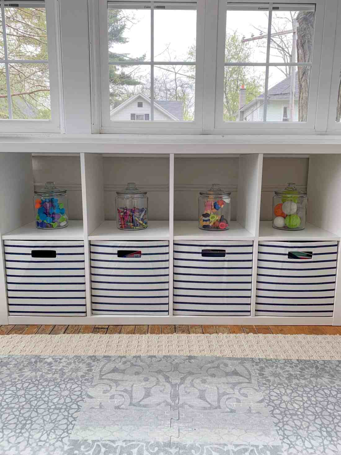 Playroom Storage Ideas featured by top Michigan lifestyle blog, House of Navy.