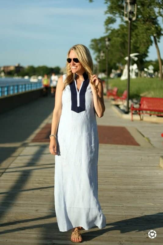 fashionable woman in summer dress