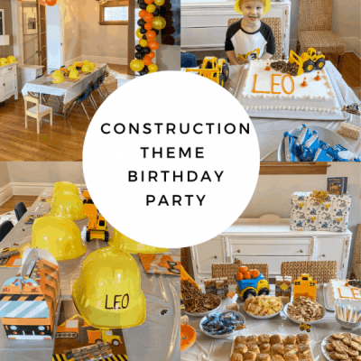 Leo's Construction Site Themed 3rd Birthday Party