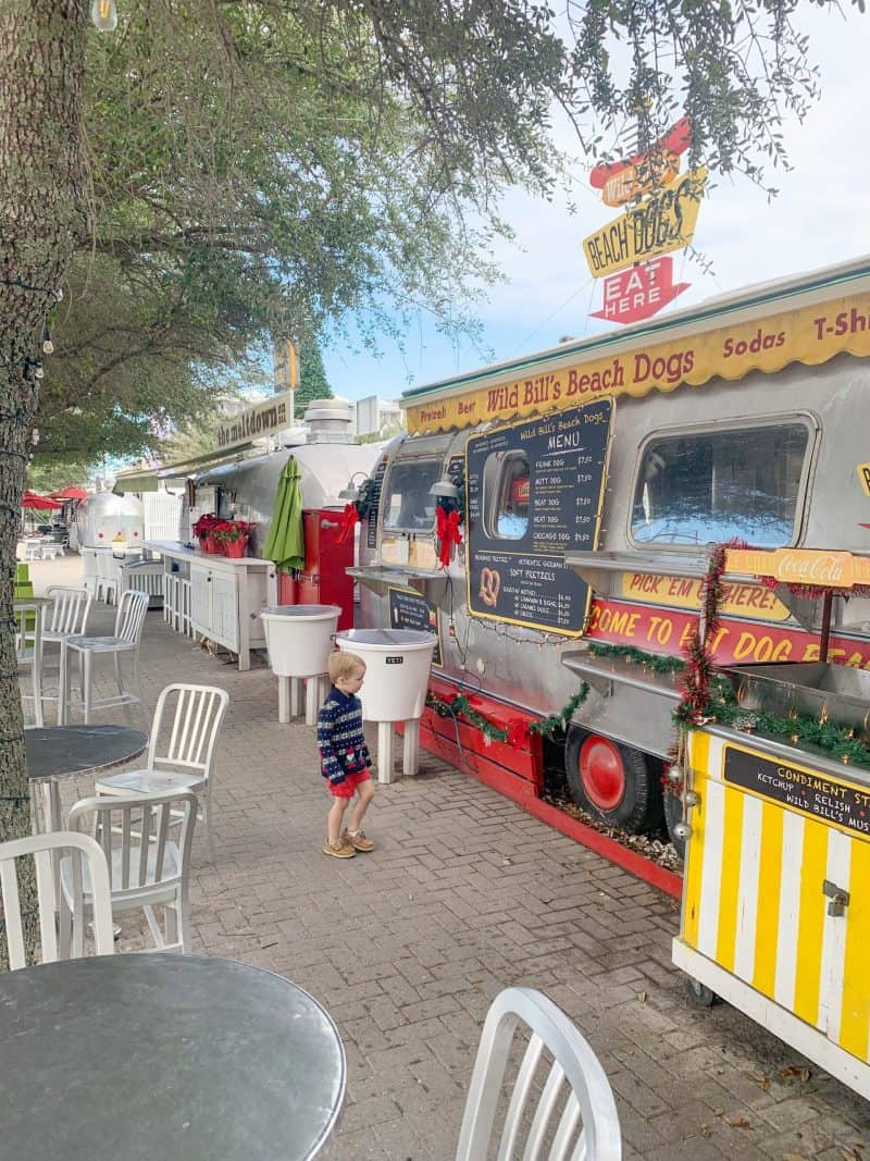 The Ultimate 30A Travel Guide for Families featured by top US travel blog, House of Navy: image of Florida food trucks