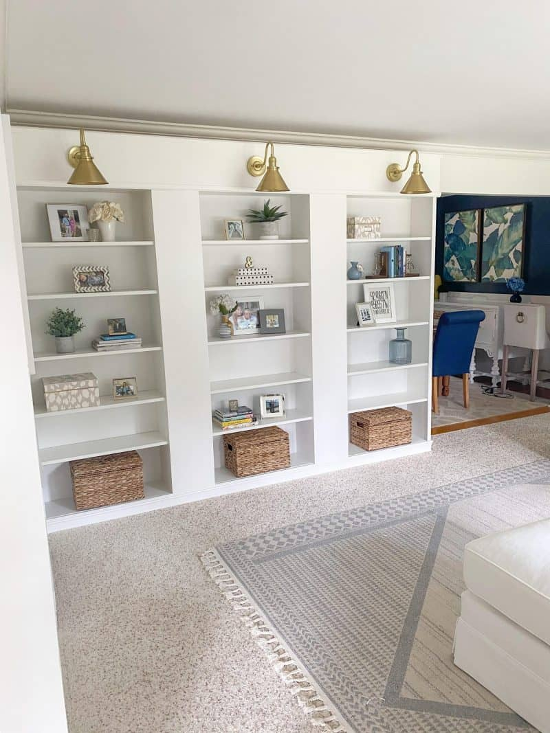 DIY ikea billy bookcase built ins featured by top MI life and style blogger, House of Navy
