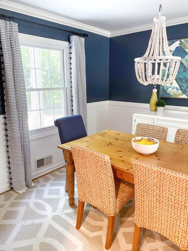 9 Stunning Coastal Paint Colors For Your Home featured by top MI lifestyle blogger, House of Navy: hale navy dining room
