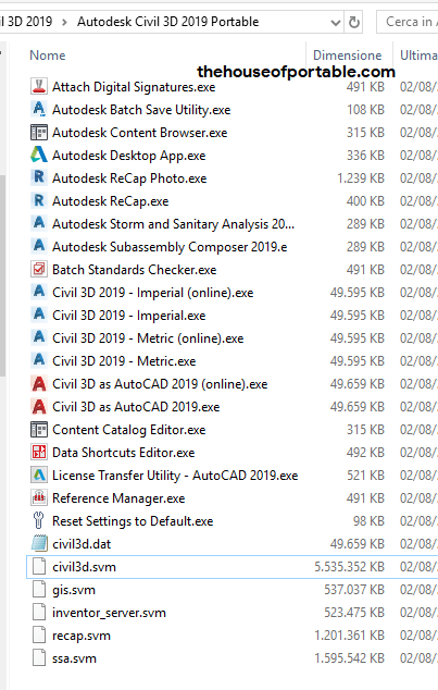autodesk civil 3d 2019 portable files