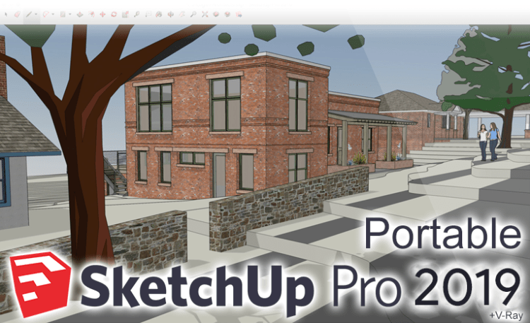 sketchup pro 2019 portable vray next crack