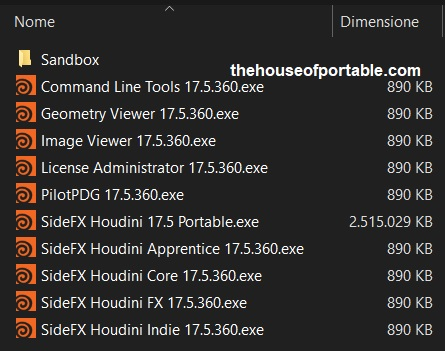 sidefx houdini 18.0 portable files