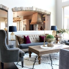 Sofa Rug Arrangement Leather Wear And Tear Repair Glam Cozy Fall Living Room - The House Of Silver Lining