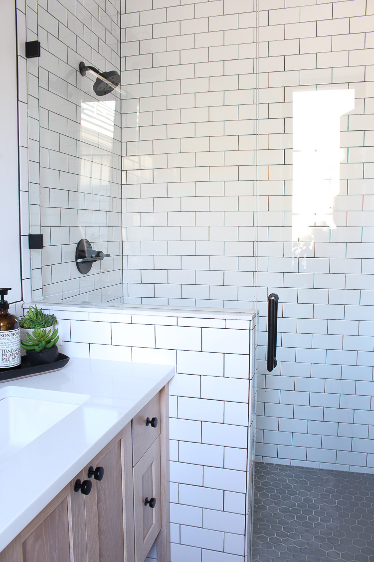 A Classic White Subway Tile Bathroom Designed By Our Teenage Son  The House of Silver Lining