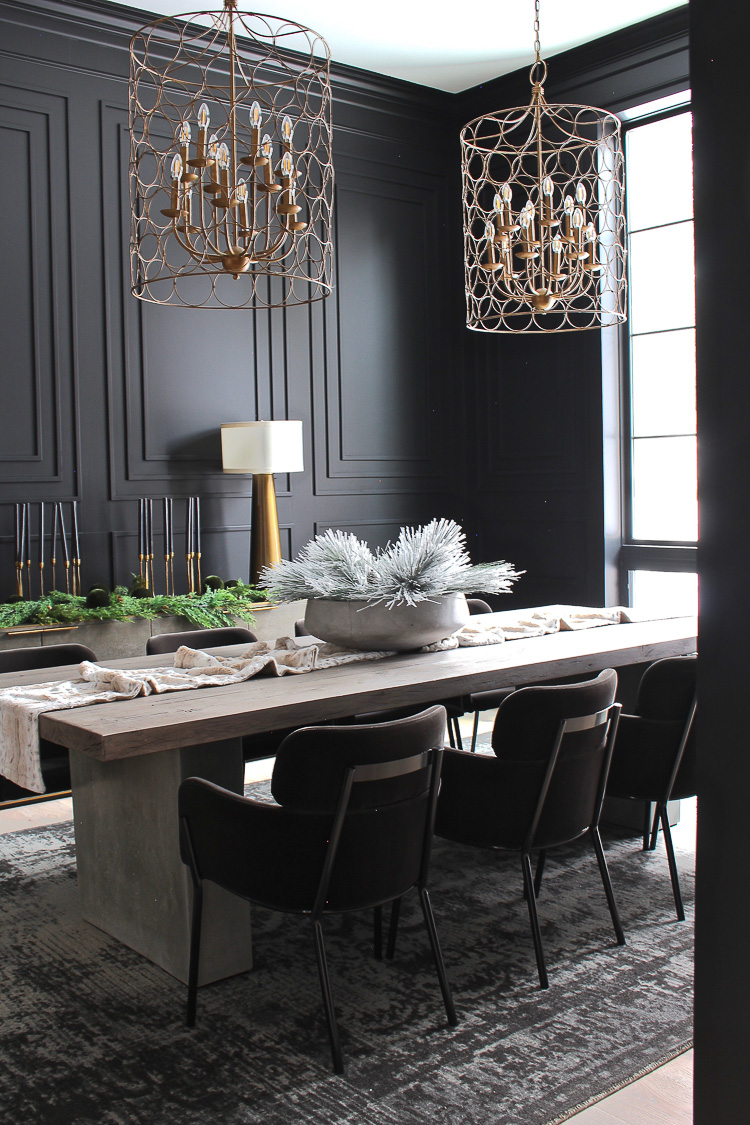 Our Bold Black Dining Room Reveal Styled For Christmas