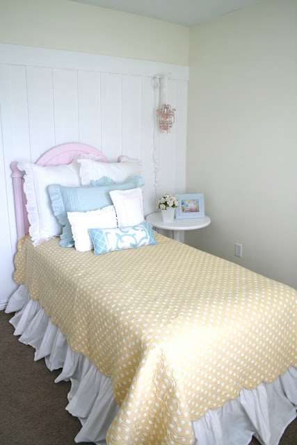 Board and Batten wall tutorial Girly Bedroom Decorating Idea - House of Smiths