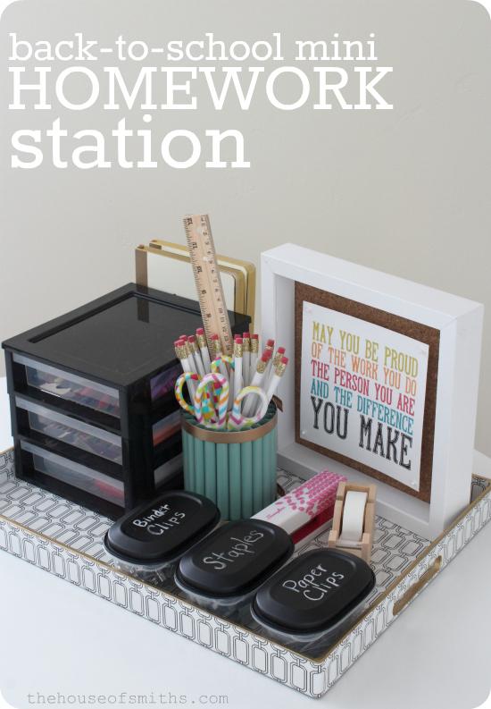 Back to School mini Homework Station - Krylon Mystery Box Challenge - thehouseofsmiths.com