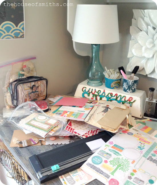 Messy office - scrapbooking mess - craft mess - house of smiths