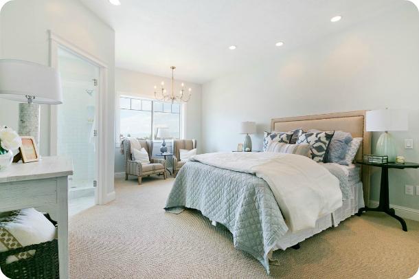 Neutral Master Bedroom - Parade of Homes SLC - Master Bedroom Decorating Ideas