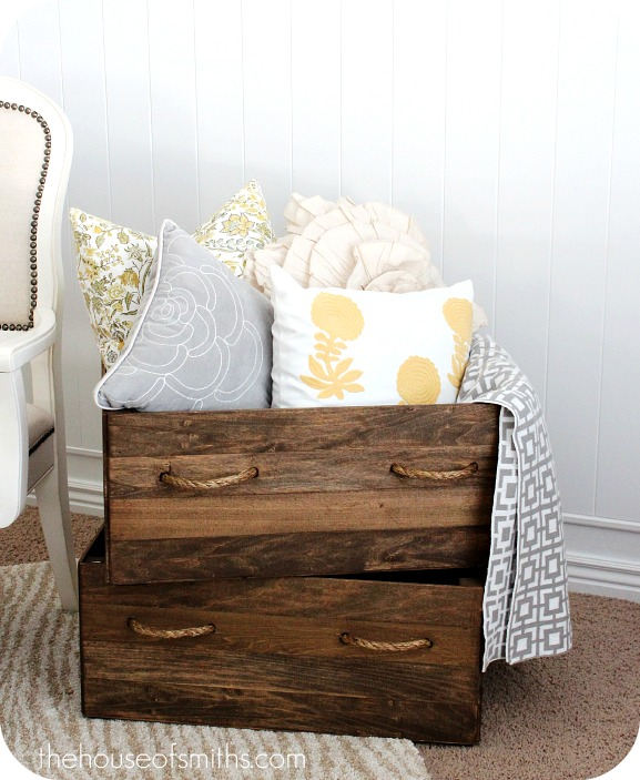 DIY Homemade Vintage Wood Crates