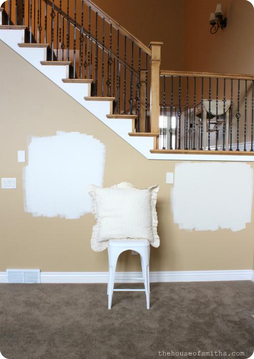 Paint color testing - thehouseofsmiths.com