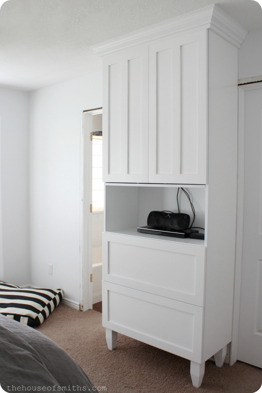 TV Cabinet in Master Bedroom - thehouseofsmiths.com