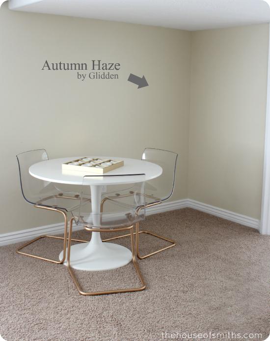 Autumn Haze by Glidden in Basement - thehouseofsmiths.com