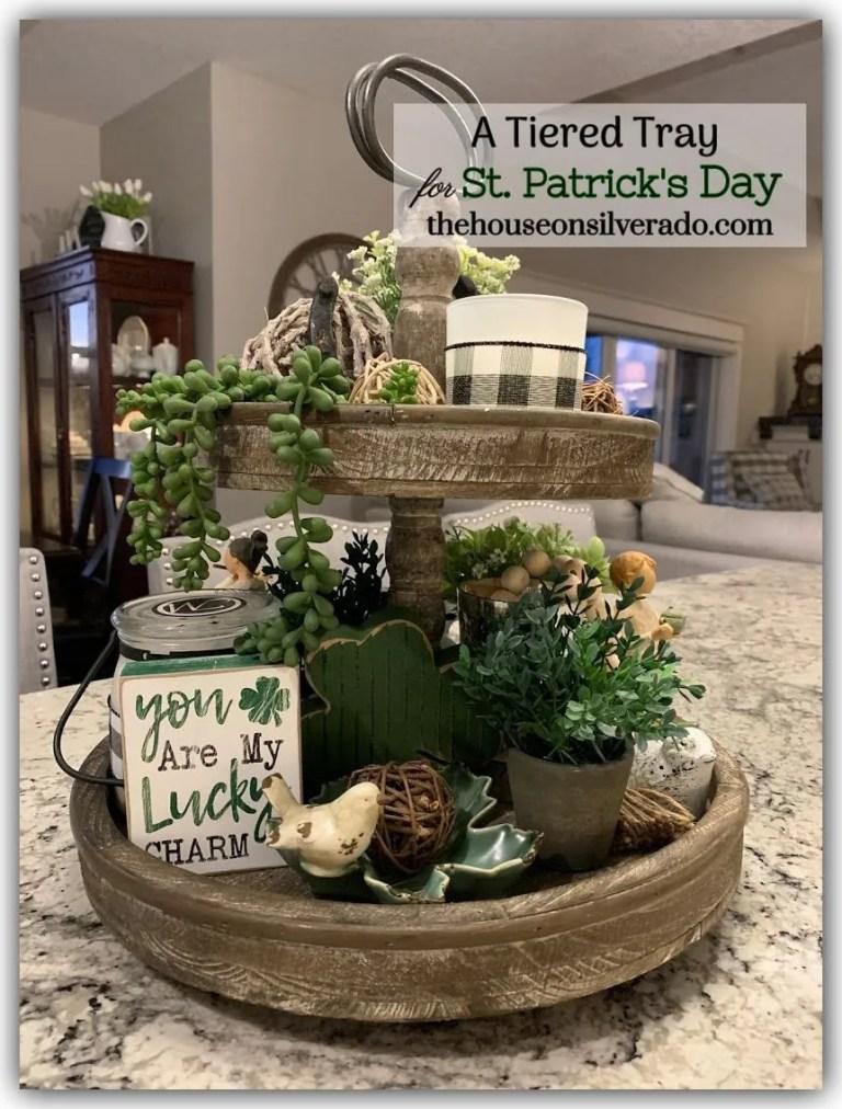 st patrick's day kitchen island tray