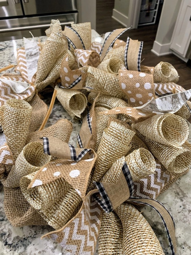 DIY Burlap & Ribbon Wreath