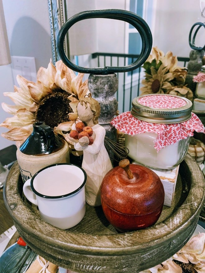 Early Fall Apple Themed Tiered Tray