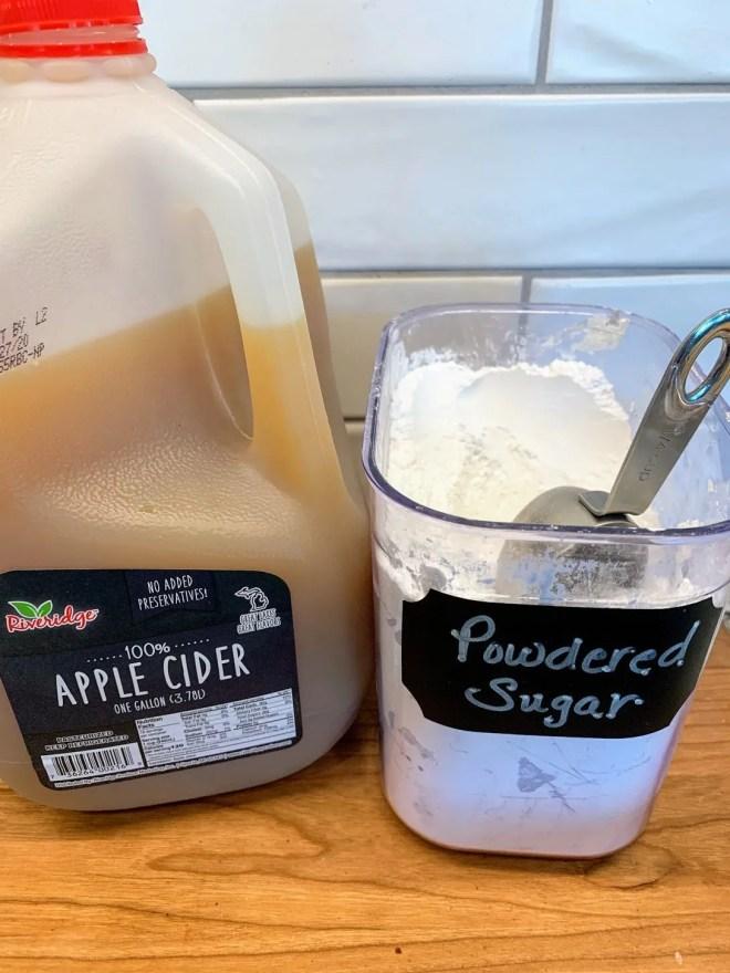 Make the glaze. Farmhouse Apple Fritter Bread with Cider Glaze