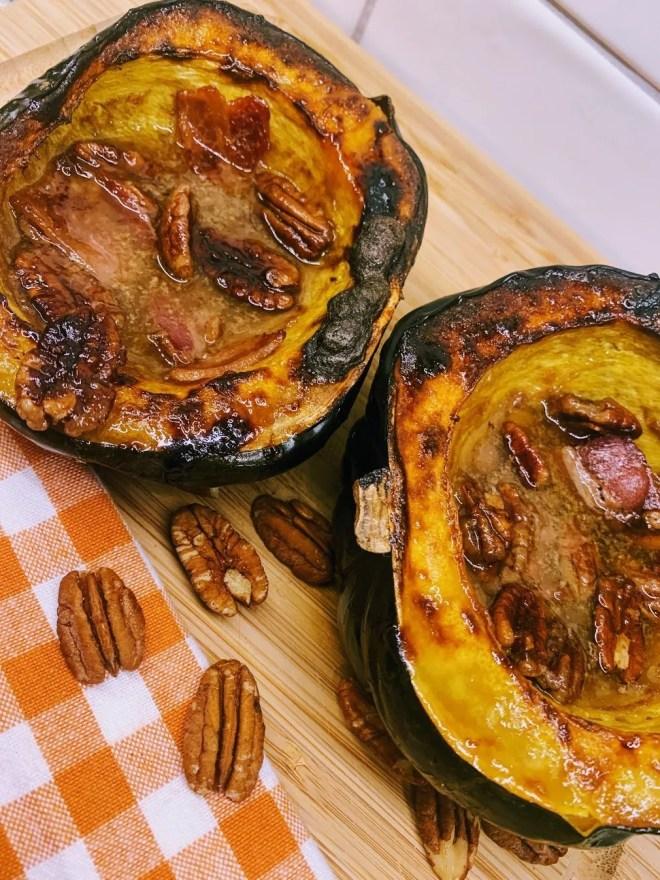 Maple Pecan Roasted Acorn Squash