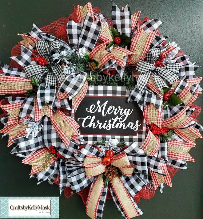 Christmas DIY Burlap & Ribbon Wreath