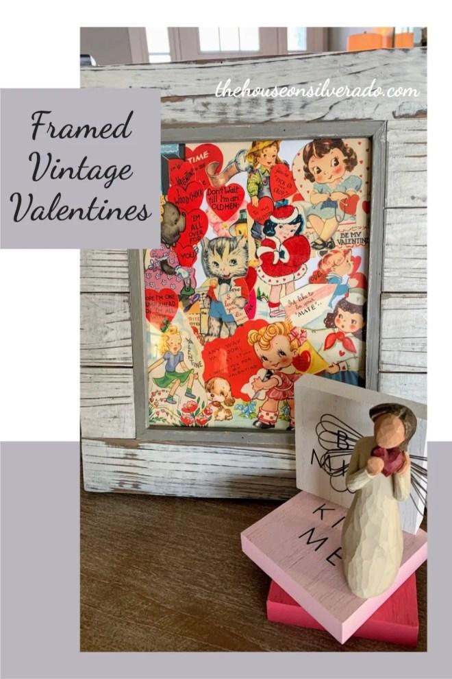 Framed Vintage Valentines, a host favorite at Funtastic Friday!